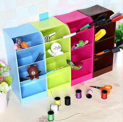 New 4 Lattice Portable Mini Desktop Clean Desk Cosmetic Jewelry Storage Box
