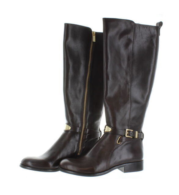 089ed4a502e6 Michael Kors Shoe Arley Low Heel Riding Boot Brown Leather 5.5 Wide ...
