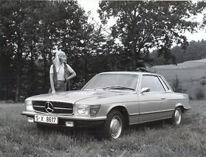 Mercedes benz r107 350slc original official press photo b for Official mercedes benz parts