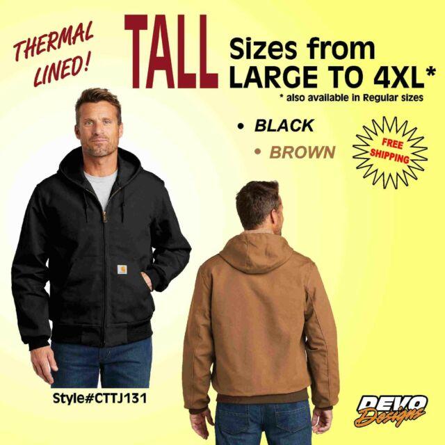Carhartt Mens Big /& Tall Rough Cut Jacket Outerwear