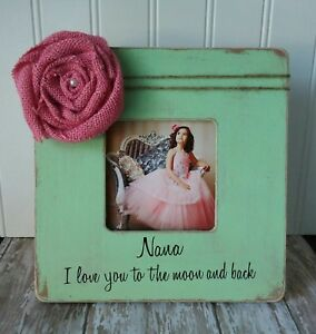 I Love You To The Moon And Back Picture Frame Grandmother Gift Nana