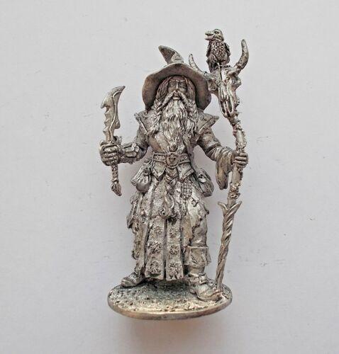 1//32 scale Wizard Sorcerer Enchanter Mage 54mm Tin Metal Soldier Fantasy Figure