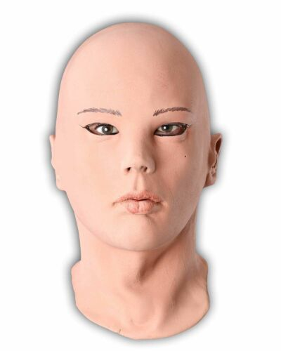 REALISTIC FEMALE LATEX MASK MADE OF FOAMED LATEX  Carnival Mask  rubber mask