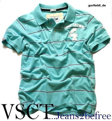VSCT Polo Shirt Crowd 4 Stripe turqoise navy Clubstyle T-Shirt NEU    | Hohe Qualität und günstig