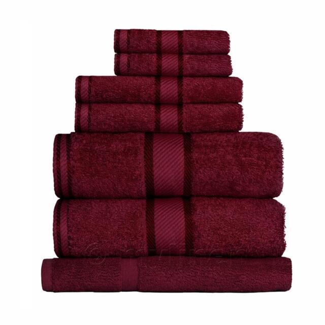 Burgundy 100% Cotton Towel Range Sets or Pcs Bath Sheet Towel Hand Face Mat