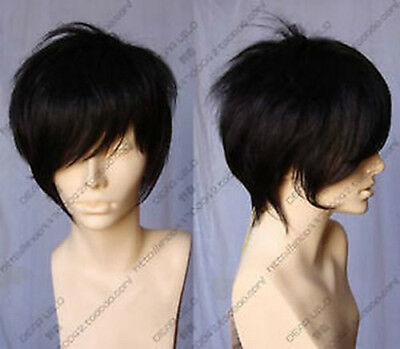 New Short Blonde Unisex Straight Wig Harajuku Fashion Hair Wig Cosplay Party Wig