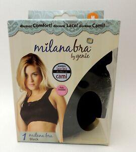 Genie Milana Bra Lace Cami Top Pads Incl 3 BRAS White Beige-All Sizes Black