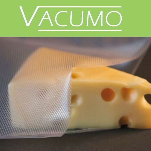 VACUMO 28 cm Vakumrollen mit Struktur goffriert  Vakuumbeutel Vakuumfolie
