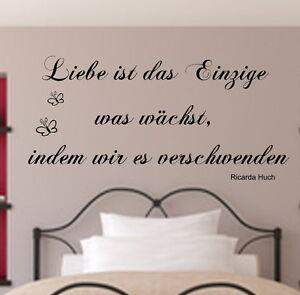 Wandtattoo Schlafzimmer++Liebe ist das Einzige++Spruch Wandaufkleber ...