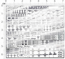 chrome(metal) decals 1/24 Mustang(silver) for model kits 7571D