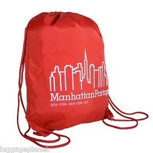 ea2fd65eaa Image is loading Manhattan-Portage -Drawstring-Lightweight-Sports-Backpack-New-York
