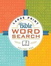 Large Print Bible Word Search Volume 1 (2015, Paperback, Large Type)