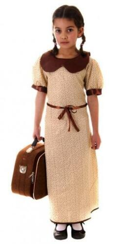 EVACUEE GIRLS  OUTFIT FANCY DRESS CHILDRENS COSTUME AGES 4-14