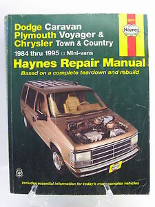 1984 1995 dodge caravan plymouth voyager chrysler town country rh ebay com 2004 Dodge Caravan Repair Manual 1995 Dodge Grand Caravan