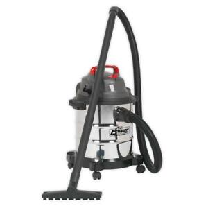 Sealey-Vacuum-Cleaner-Wet-amp-Dry-20ltr-1250W-Stainless-Drum-Model-No-PC195SD