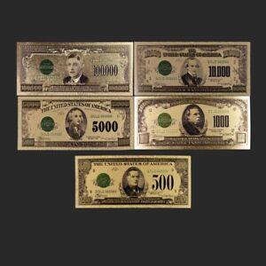 Home-Decorative-1918-Year-US-Dollar-Set-24k-Gold-Foil-Gold-Banknote-Art-Crafts
