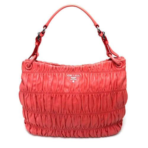 PRADA Logo Tote bag Shoulder bag Salmon Pink