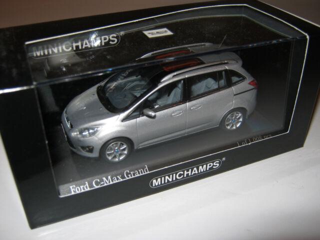 1:43 FORD C-Max Grand 2010 silver L.E. 1008 pcs. MINICHAMPS 400089101 OVP new