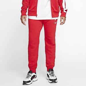 Nike Para Hombres Pantalones Ropa Deportiva Nsw Swoosh Universidad Rojo Blanco Cj4869 657 E Ebay