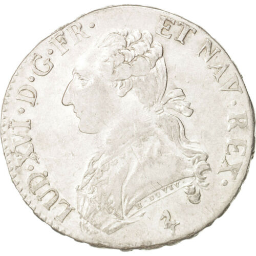 #18041 France, Louis XVI, 12 Écu, 44 Sols, 1784, Paris, EF4045, Silver
