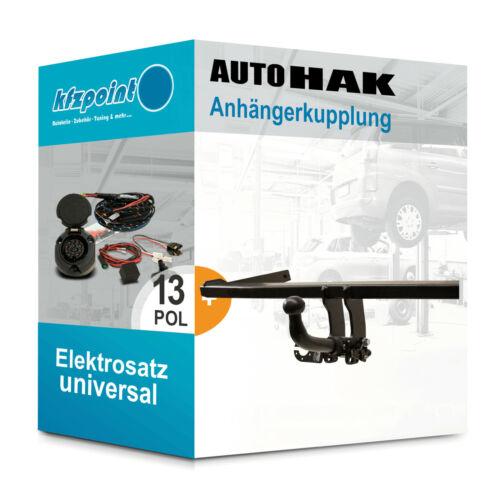 AUTO HAK Anhängerkupplung abnehmbar Für Peugeot 407 Break SW 04 13polig neu