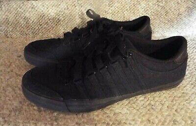 Mens K.SWISS Black Canvas Tennis Shoes