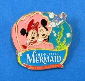 Disney-Pin-DLR-California-Mickey-and-Minnie-riding-Ariel-039-s-Undersea-Adventure