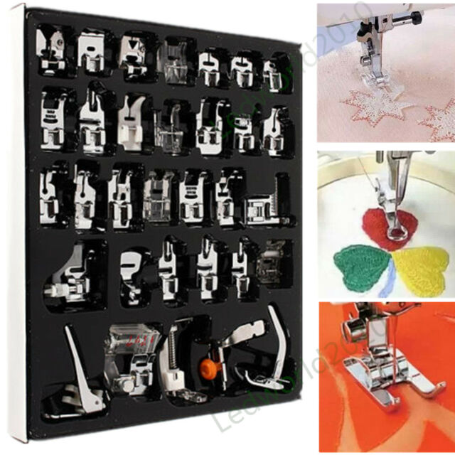 32pcs Presser Foot Feet For Janome Brother Singer Domestic Sewing Part Set LWCA