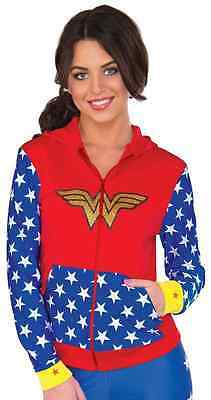 Supergirl Fitted Hoodie DC Superhero Fancy Up Dress Halloween Adult Costume