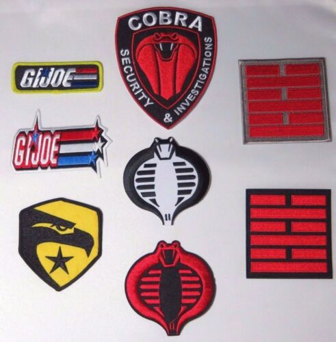 8 PREMIUM QUALITY Embroidered PATCHES G.I.JOE ULTIMATE PATCH SET OF