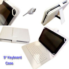 "9"" PU LEATHER CASE COVER  inc KEYBOARD for Go Clever GoClever Tab A93.2 Tablet"