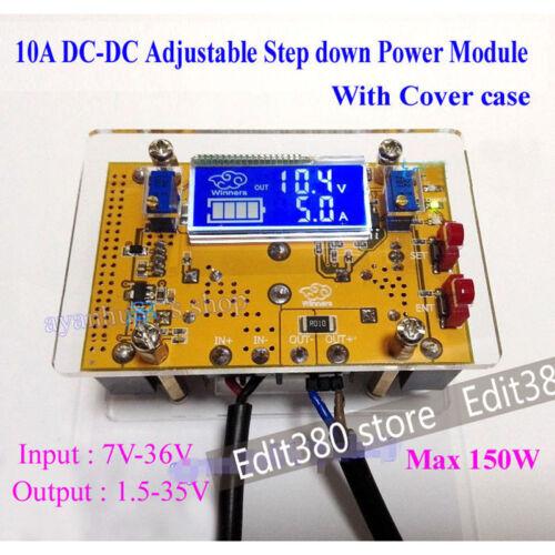 Adjustable DC-DC Buck Step Down Module Voltage Converter 7-36V to 2-32V 10A
