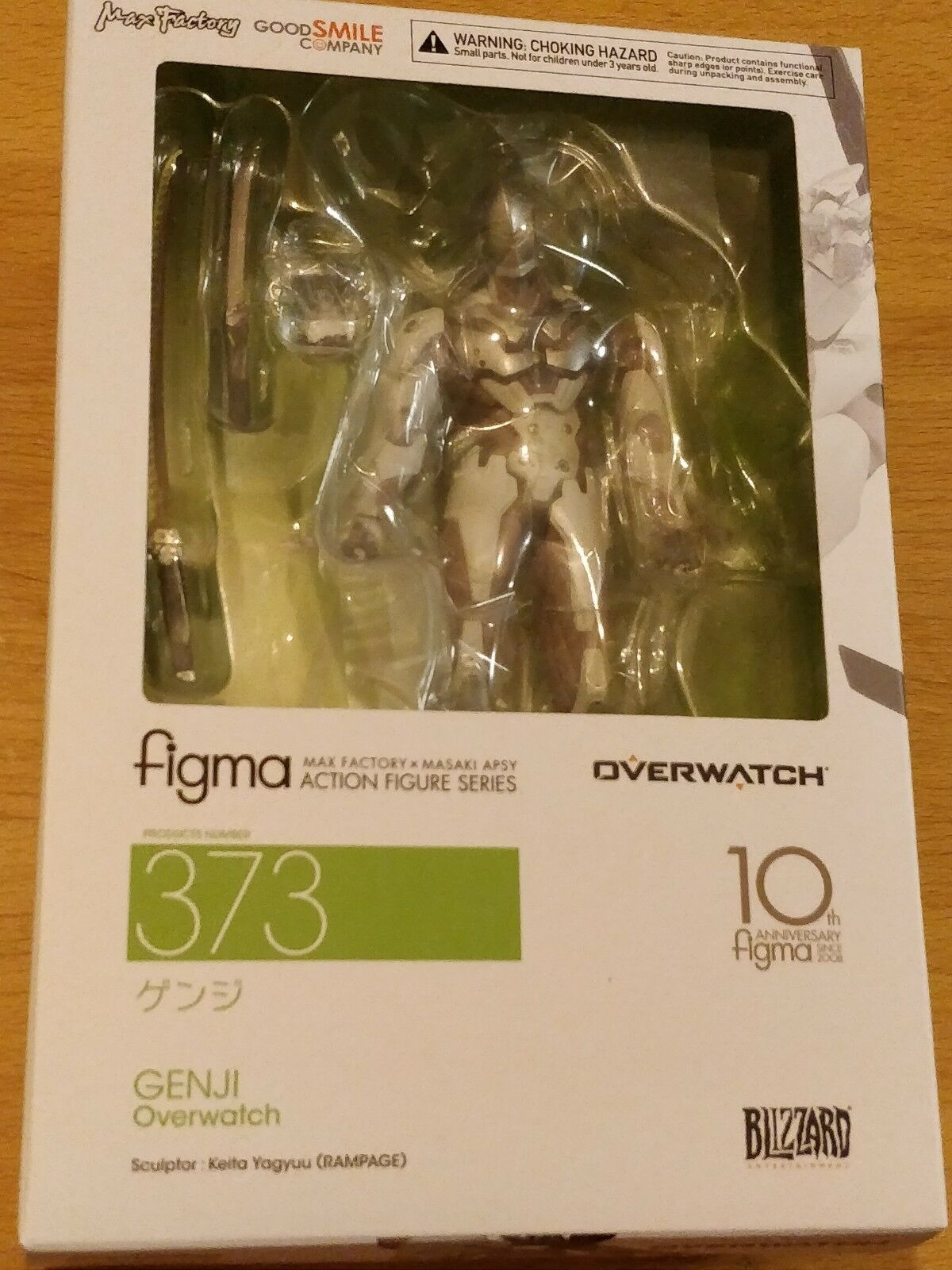 BLIZZARD OVERWATCH GENJI FIGMA FIGURE  - NEW AND SEALED