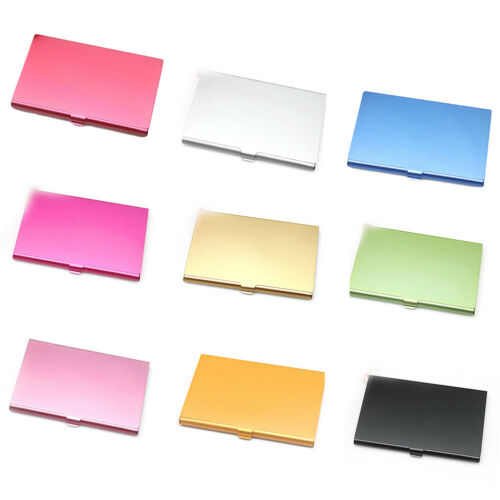 Stainless Steel Business ID Credit Card Holder Wallet Metal Pocket Box Case New