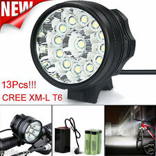 32000LM 13 x CREE XM-L T6 LED 6 x 18650 Bicycle Cycling Light Waterproof Lamp