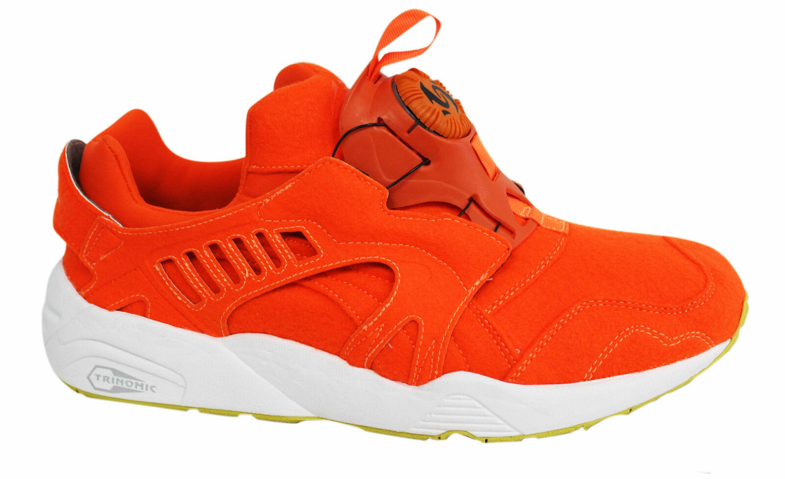 Puma Trinomic Disc Blaze Orange Felt Mens Trainers Slip On Shoes 359361 01 P2