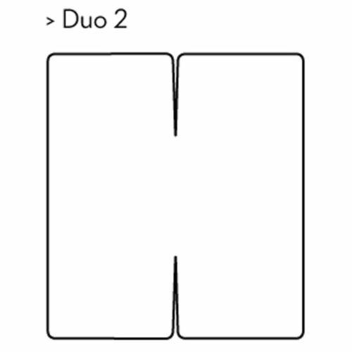 Spannbetttuch Bella Gracia Duo2 für Matratzen mit verstellbarem Kopf und Fußteil