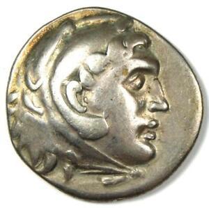 Ancient-Alexander-the-Great-III-Style-AR-Tetradrachm-Coin-Nice-VF-Condition