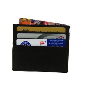 Black Men Genuine Leather Thin Men Flat Credit Card Wallet Simple 6 Cards Holder Ebay