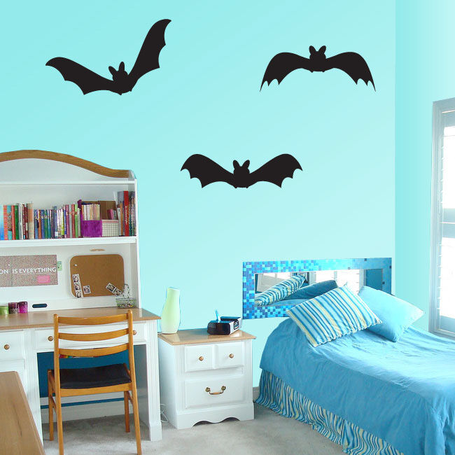 Halloween Bats Holiday Vinyl Wall Decal Mural Quotes Words -arth3bats