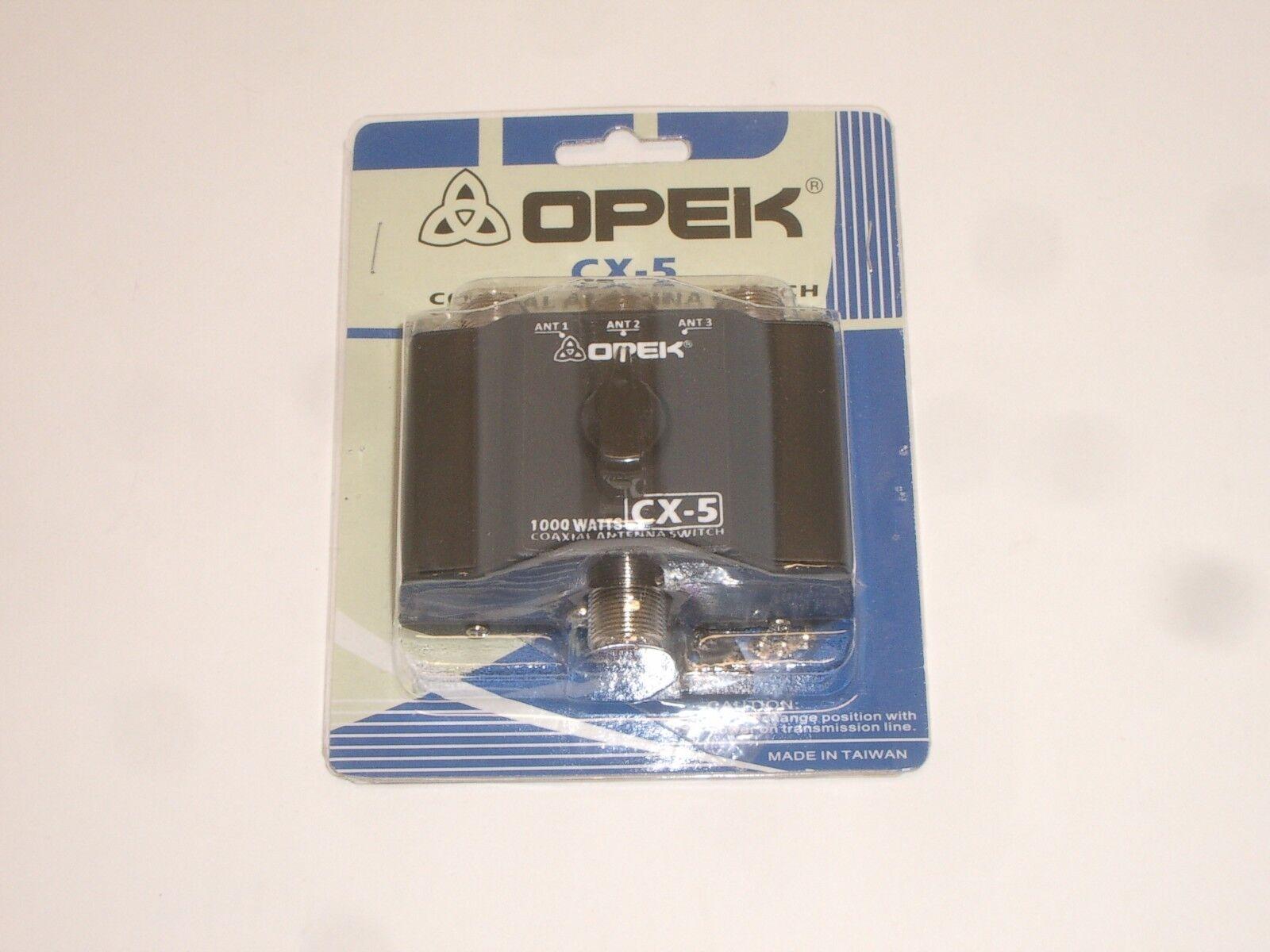 OPEK CX5 3 POSITION ANTENNA COAX COAXIAL SWITCH w// SO-239 1KW CB HAM RADIO