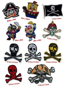 Pirates fun cartoon movies flags badges collection Iron/Sew on Embroidered Patch