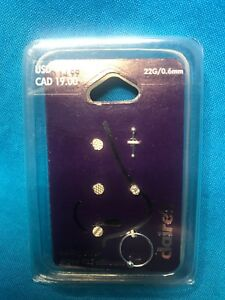 Set Of Five Claire S Sterling Silver 22 Gauge Nose Rings Ebay