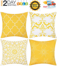 Fundas Forros Para Cojines Decorativos Almohadas 18x18 Set De 6 Amarillo Gris