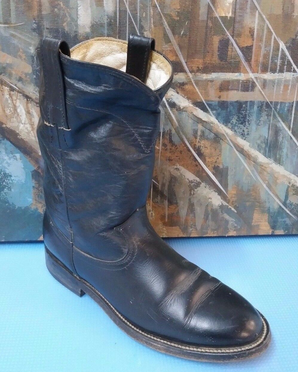 Women  Roper Boots Style 2806 PreOwned  Black Nice 5.5
