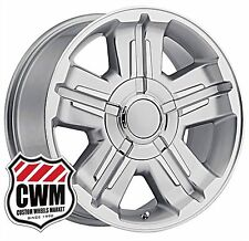 (1) 18x8 OE Performance 173S Chevy Silverado 2007-2013 Silver Machined Wheel Rim