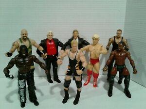 Mixed-Lot-of-8-loose-Wrestling-Figures-SEE-PICTURES