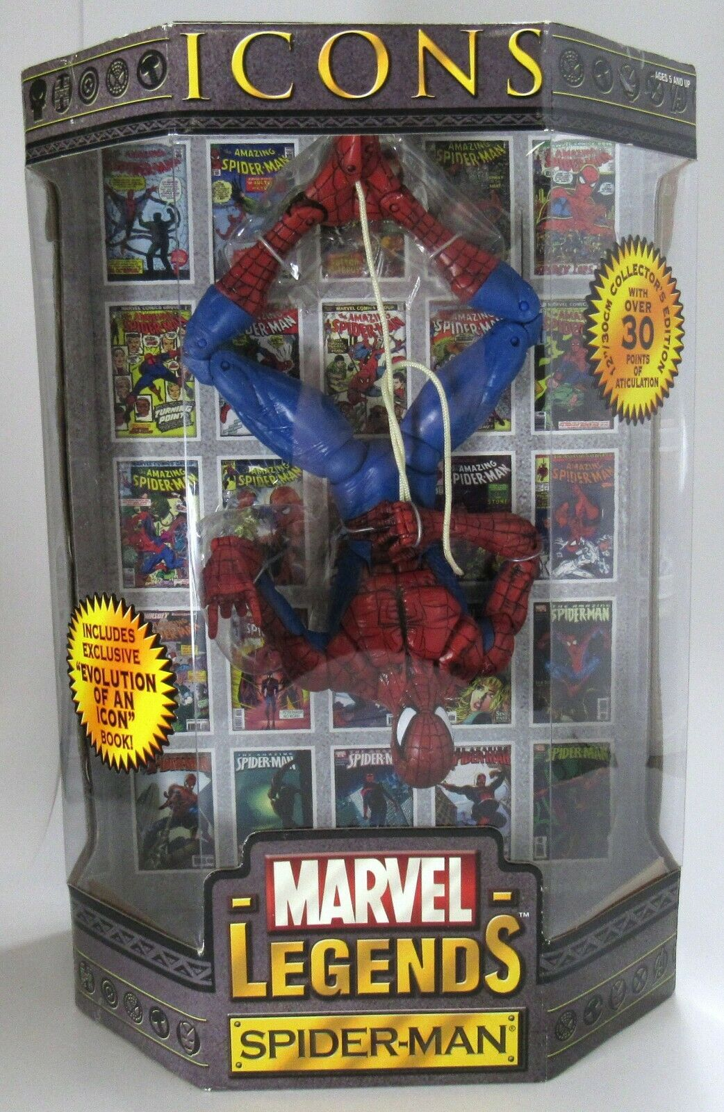 nouveau Sealed ToyBiz Marvel Legends Icons 12  Spider  Man 2006  vente de sortie