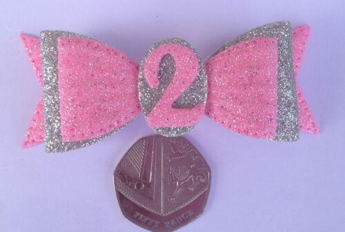 Bobble Badge Brooch Pin School Birthday Hair Bows Age Party Alligator Clip