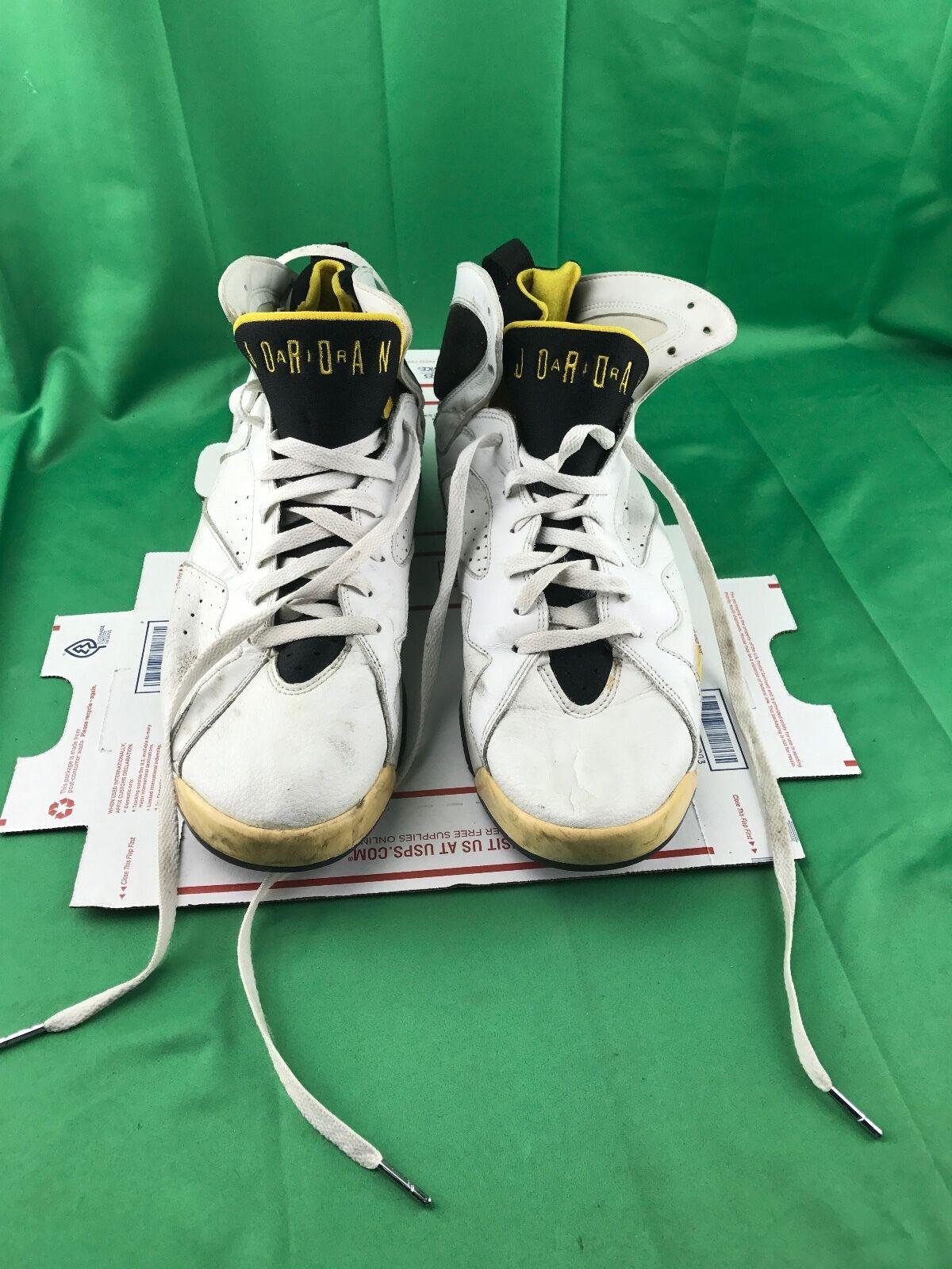 2005 Nike Air Jordan Retr Vii 7 Donne Ci Ci Donne Bianco Gialla 313358-172 Numero 13 b71d23